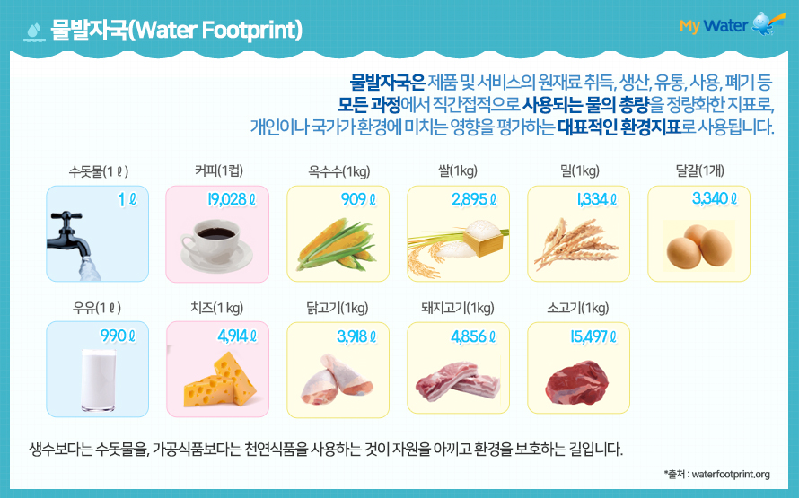 물발자국(Water Footprint)